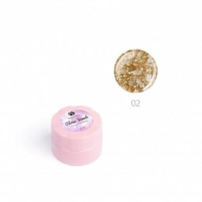 """Гель для дизайна ногтей ADRICOCO Glow Bomb №02 """"Медовый блеск"""" (6 мл.)"""