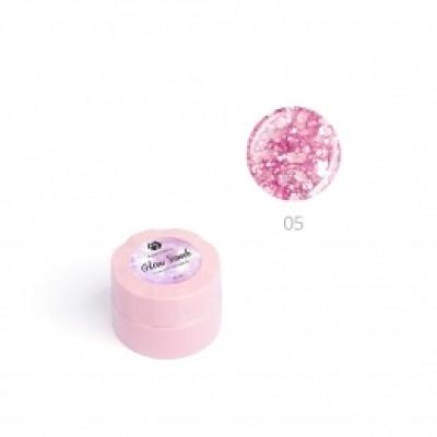 """Гель для дизайна ногтей ADRICOCO Glow Bomb №05 """"Розовый кристалл"""" (6 мл.)"""
