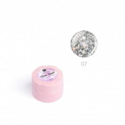 """Гель для дизайна ногтей ADRICOCO Glow Bomb №07 """"Голографический дождь"""" (6 мл.)"""