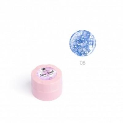 """Гель для дизайна ногтей ADRICOCO Glow Bomb №08 """"Синий иней"""" (6 мл.)"""