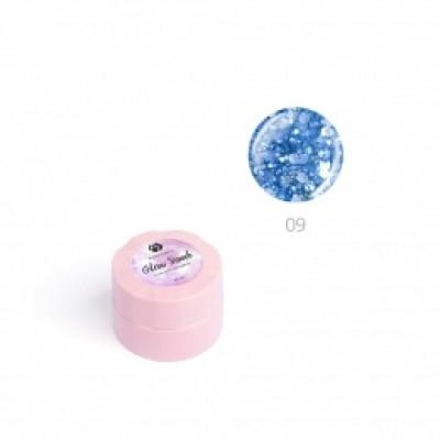 """Гель для дизайна ногтей ADRICOCO Glow Bomb №09 """"Зимнее небо"""" (6 мл.)"""