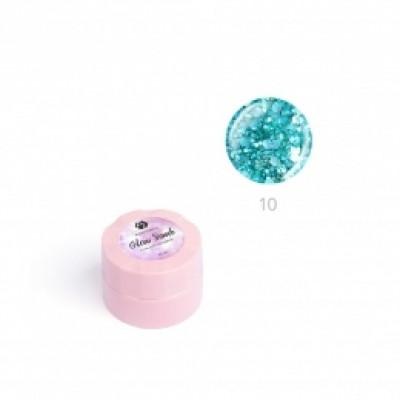 """Гель для дизайна ногтей ADRICOCO Glow Bomb №10 """"Сверкающая бирюза"""" (6 мл.)"""