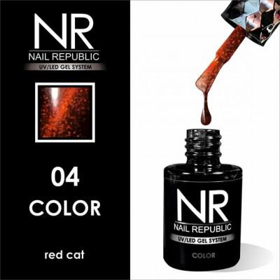 NR Гель-лак CAT-04 Red (10 мл)