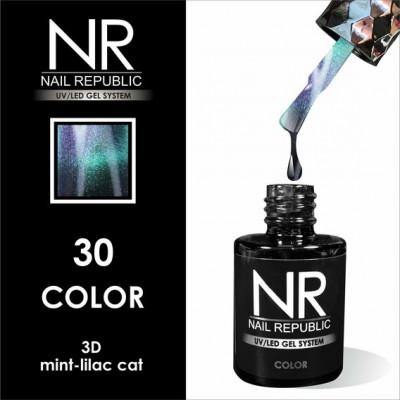 NR CAT-30 Гель-лак 3D mint-lilac (10 мл)