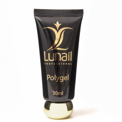 Polygel Lunail -  БЕЛЫЙ (30 мл) 2я фаза в 3х фазной системе
