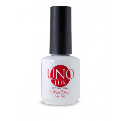 Uno Lux, Верхнее покрытие High Gloss Top Coat,15 мл.
